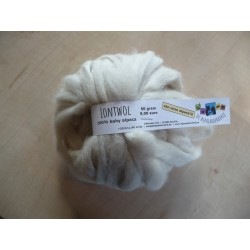 Lontwol Royal Baby Alpaca Wit